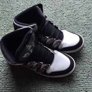 Zebra Hightop Adidas sneakers